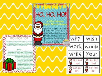 Thanksgiving and Christmas Sight Word Game BUNDLE