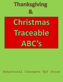 Thanksgiving and Christmas Traceable ABC's