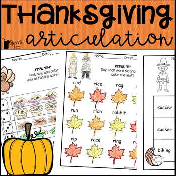 Thanksgiving and Fall Articulation Activities