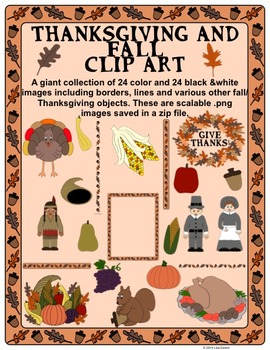 Thanksgiving and Fall Clip Art