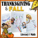 Thanksgiving and Fall Literacy and Math Activities