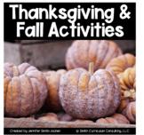 Thanksgiving Fall Math Activities Bundle 4th-8th Grade Dis
