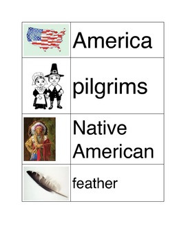 Thanksgiving and Family Vocabulary Words