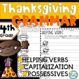 Thanksgiving and Grammar 4th Grade