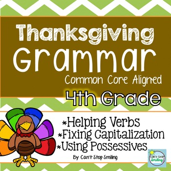 Thanksgiving and Grammar 4th Grade