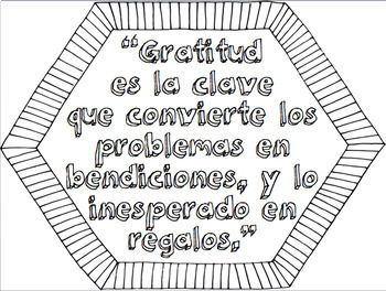 Thanksgiving And Gratitude Spanish Quotes Coloring Pages By Sam