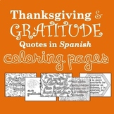 Thanksgiving and Gratitude Spanish Quotes Coloring Pages