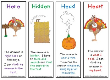 Thanksgiving and Halloween: The Turkey and the Pumpkin 4H reading strategy
