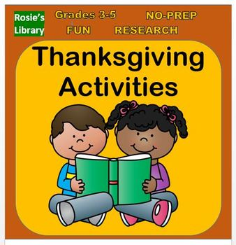 Thanksgiving and November Activities for Upper Elementary