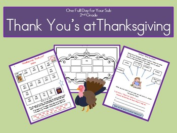 "Thanksgiving ""Thank You's!"" - A Full Day of Activities"