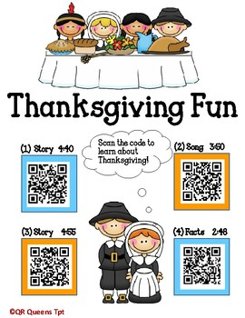 Thanksgiving and Turkey Fun Listening Center using QR Codes and Links