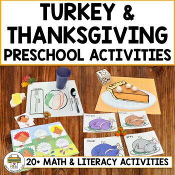 Thanksgiving and Turkey Activities for Pre-K, Preschool and Tots