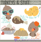 Thanksgiving and Turkeys Clipart