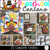 Thanksgiving and Turkey November Math and Literacy Centers for Preschool