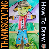 Thanksgiving Activities Free: How to Draw a Turkey, Scarec