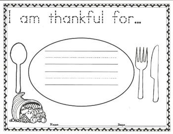 Thanksgiving at the Tappletons' Response Sheet
