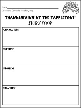 Thanksgiving at the Tappletons' Story Map