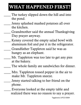 Thanksgiving at the Tappleton's Unit
