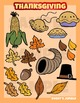 Thanksgiving, autumn or fall clip art set
