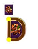 Thanksgiving banner: Don't be a turkey! Count your blessings!