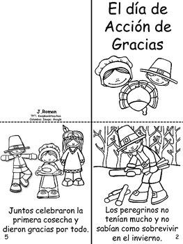 Thanksgiving bilingual book