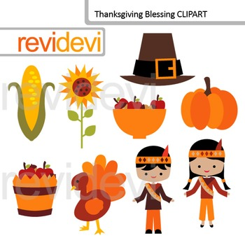 Thanksgiving blessing clip art