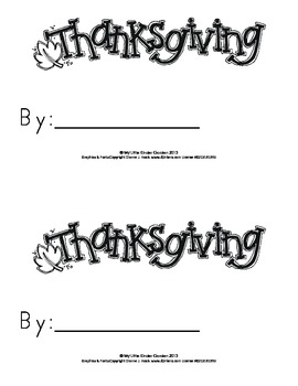 Thanksgiving book-3 differentiated levels for K, w-here, this, and, my, I, a