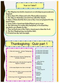 Thanksgiving booklet