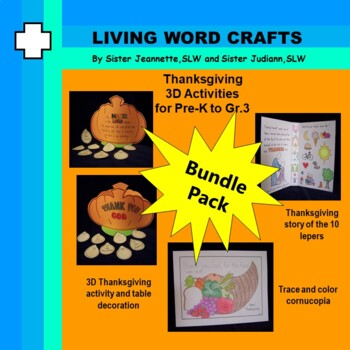 Thanksgiving bundle (3 projects) for Pre-K to Gr. 3