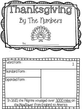 Thanksgiving by the Numbers {Create a Place Value Booklet of Thanksgiving Facts}
