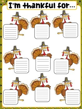 Thanksgiving classroom poster