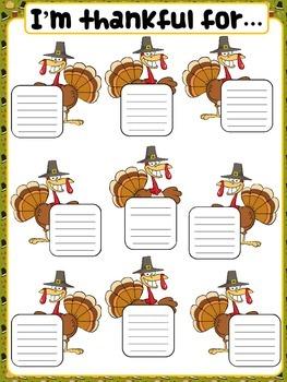 Thanksgiving classroom poster