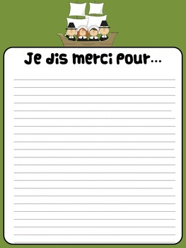Thanksgiving classroom poster-French