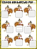 Thanksgiving classroom poster- Spanish