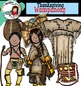 Thanksgiving clip art-Wampanoag- Color and B&W