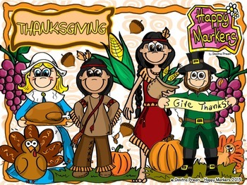 Thanksgiving (clip art by Happy Markers)