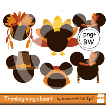 Thanksgiving clipart mouse head clipart +black white outline