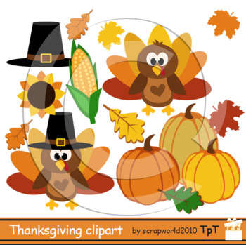 Thanksgiving clipart Turkey Day clipart autumn clip art+black white outline