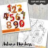 Thanksgiving clipart bundle (autumn numbers clip art)