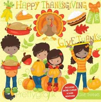 Thanksgiving clipart commercial use, vector graphics, digital - CL744