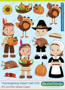 Thanksgiving clipart, pilgrims, native americans, turkey,