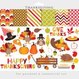 Thanksgiving clipart - thanks giving clip art turkey fall pilgrims pumpkin pie