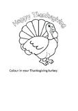 Thanksgiving colour sheet.