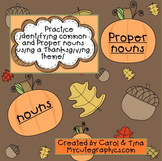 Thanksgiving:  Common and Proper Noun Morning Work