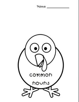 Thanksgiving:  Common and Proper Noun Morning Work