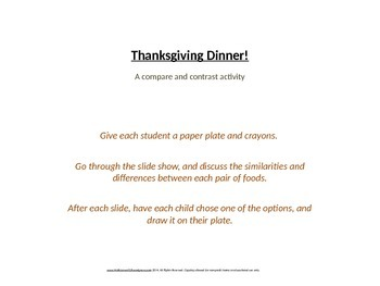 Thanksgiving compare/contrast
