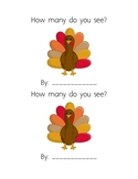 Thanksgiving counting book 1-5 handwriting, cut and paste
