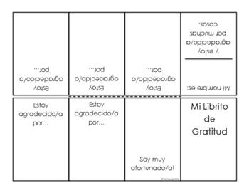 Thanksgiving craft:  Gratitude Minibooks (English and Spanish)