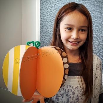 Thanksgiving crafts for kids printable pumpkin FREE colori