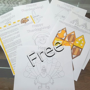 Thanksgiving crafts for kids treat bags FREE coloring pages Thanksgiving facts